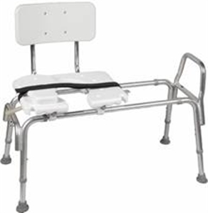 Picture of Transfer Bench Heavy Duty Sliding with Cut-Out Seat