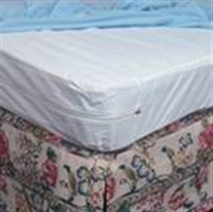 Picture of Mattress Protector For Home Beds Zippered Plastic (King Size) aka Mattress Cover for King Size Bed