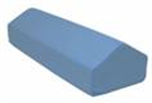 """Picture of Elevating Leg Rest 28"""" x 10"""" x 7"""" with Removable Blue Cover aka tired leg treatment, bed pillow"""