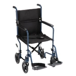 "Picture of Nova Lightweight Transport Chair 17"" Full-Arm Swing-Away Footrest"