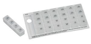 Picture of Medication Planner aka Weekly Pill Organizer, Pill Box 4-Dose Style