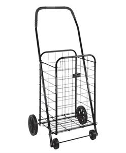 Picture of Folding Shopping Cart (Black) Clearance, Closeout