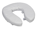 "Picture of Toilet Seat Cushion Vinyl 2"" (Ivory) Comfort Seat Cushion, Travel Toilet Riser, Padded Toilet Cushion"