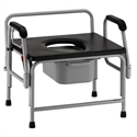 Picture of Heavy Duty Commode with Drop Arm (800 lbs Cap.) aka Bariatric Commode, High weight capacity commode, Heavy Duty Bedside Commode, Bariatric Commode