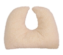 "Picture of Crescent Pillow Mate 14"" x 12"" x 3"" with Removable Cover (Fleece) aka Travel Pillow, Airplane Plillow, Cervical Pillow"