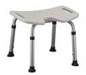 "Picture of Bath Bench with Hygienic Cut-Out (Height Adjusts 14""-20"") aka shower chair, bath seat"