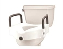 Picture of Nova Raised Toilet Seat with Arms, Front Locking Mechanism, Toilet Riser, Non-Retail Box, Bath Safety Item #NO8353