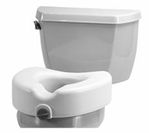 Picture of Nova Raised Toilet Seat with Front Locking Mechanism aka Toilet Riser, Bath Safety Items