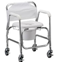Picture of Nova Shower Chair and Commode with Padded Seat, Bath Safety Item #NO8800