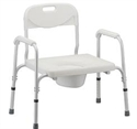 Picture of Nova Extra Wide Heavy Duty Commode with Removable Back aka Bariatric Commode, Bath Safety Item #NO8580