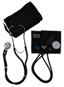 Picture of MatchMates® Sprague Rappaport-Type Combo Kit (Black) aka Mabis 01-360-021, nurse stethoscope kit, Medical Sphygmomanometer Kit