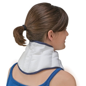 "Picture of TheraBeads Reusable Moist Heat Compress 6 1/2"" x 22"" (Contoured Neck) aka Neck Pain Relief, Heating Pad, Arthritis Relief"