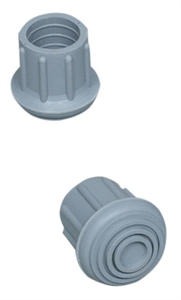 "Picture of Universal Replacement Tips 1"" #20 (4 per box) (Gray) aka Replacement Cane Tips, Rplacement Walker Tips, Replacement Commonde Tips"