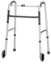 "Picture of Adult Folding Walker with Single Button Release and 5"" Front Wheels, Walkers, Walker with Wheels, Nova Walker"