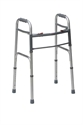 Picture of Deluxe Folding Two Button Walker (Silver) aka Standard Adult Walker, Adult Folding Walker