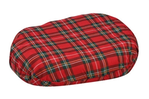 "Picture of Convoluted Ring Cushion 18"" with removable Plaid Cover aka Eggcrate Cushion, 3"" Seat Pad, Wheelchair Cushion, Clearance"