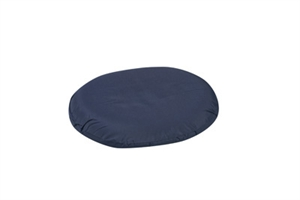 "Picture of Ring Cushion Molded Foam with removable Blue Cover(14"") aka Seat Cushion, 3"" Chair Pad, Donut Cushion, Wheelchair Cushion"