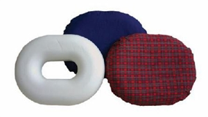 "Picture of Molded Foam Ring Cushion 16"" (Fancy Red Washable Cover) aka Donut Cushion - Clearance"