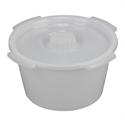 Picture of Commode Replacement Pail with Lid (12 qt.) aka 12 quart commode pail, Commode Accessories, Commode Replacement Parts