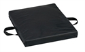 "Picture of Flotation Cushion Reversible (Soft Foam - Gel - Firm Foam)(16"" x 18"" x 2"")(Black Leatherette Cover) aka Wheelchair Cushion, Seat Cushion, Chair Pad"
