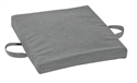 "Picture of Flotation Cushion Gel-Foam (16"" x 18"" x 2"" )(Gray Velour Cover) Wheelchair Cushion, Gel Cushion, Tailbone Seat Pad"