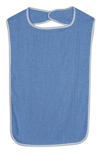 Picture of Terry Cloth Patient Protector (Navy Blue) aka Adult Bib, 532-6013-1900, Mealtime Protector
