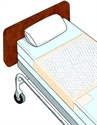 "Picture of Ideal Brand Disposable Underpads with Tuckable Sides (28"" x 70"")(Case of 75) aka Chux, Tuckables, Bed Pads, Disposable Bed Pads"