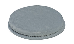 "Picture of Swivel Seat Cushion Standard (Gray Velour Cover) aka Chair Cushion, 1"" Seat Cushion, CLEARANCE"