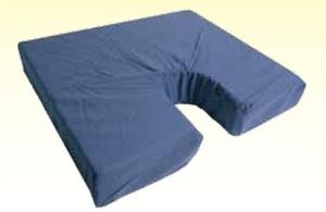 "Picture of Coccyx Foam Seat Cushion 18"" x 16""x 3"" (Navy Cover) aka Wheelchair Cushion, 3"" Seat Cushion, Clearance"