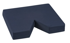 "Picture of Coccyx Seat Cushion 16"" x 18""x 3"" (Navy Cover) Tailbone Cushion"