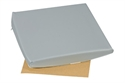 "Picture of Slanting Seat Cushion 16"" x 16"" (2""-4"" Slope) with Gray Leatherette Cover, aka Wheelchair Cushion, Sloping Cushion, Chair Pad, 4"" Seat Cushion, Clearance"