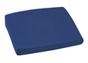 "Picture of Sloping Back Chair Cushion (16""x 18"" x 4""-2"") with Navy Poly/Cotton Cover, aka Slanted Seat Cushion, Wheelchair pad, Wheelchair cushion, CLEARANCE"