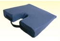 "Picture of Slopping Coccyx Cushion 16"" x 18"" x (3"" to1"" Slope) with Navy Cover aka Seat Cushion - Clearance"