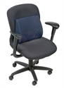 "Picture of Lumbar Back Cushion Standard Contoured Foam with Strap (Navy Cover)(14"" x 13"") aka Chair Cushion, Car Back Support, DMI 555-7300-2400"