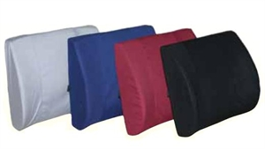 "Picture of Lumbar Back Cushion Molded Foam Extra Wide 13""x18"" with strap (Navy) - Clearance"