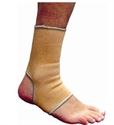 Picture of Elastic Ankle Support (Beige)(Small - 2X-Large) aka Ankle Sleeve, Ankle Brace, Ankle Tendonitis Support