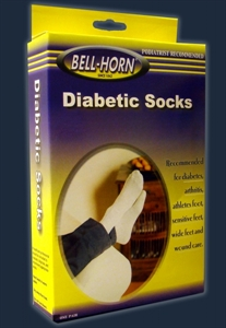 Picture of Seamfree Diabetic Socks (Black) Bell Horn Socks, Bell Horn Stockings, Diabetes