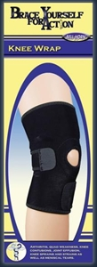 "Picture of Brace Yourself For Action Knee Wrap (Universal 12"" - 16"") aka Bell Horn Knee Brace, Universal Knee Brace, Arthritis Knee Brace"