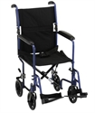 "Picture of NOVA Lightweight Transport Chair 19"" Full-Arm Swing-Away Footrest (Blue)"