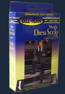 Picture of Men's Dress Compression Socks (15 - 20 mmHg) Calf Length (Small/Black) aka Bell Horn Stockings, Bell Horn Socks, Compression Stockings- PRICE REDUCED