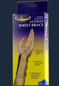 Picture of Ultimax Wrist Brace (Left/XSmall) aka Carpal Tunnel Brace, Low Cost Wrist Brace, XSmall Wrist Brace, Clearance