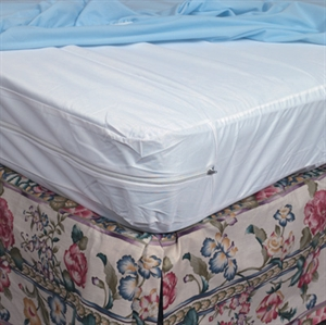 Picture of Mattress Protector Zippered Plastic For Hospital Bed aka Mattress Cover for Hospital Bed