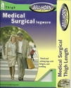 Picture of Medical Surgical Legware Graduated Compression Stockings 30-40 mmHg (Medium)(Thigh High - Open Toe)(Beige) Bell Horn Stockings, Thrombosis, Mild Edema, Open Toe Stockings, Thigh High Stockinigs