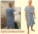 Picture of Dignity Convalescent Gown aka Patient Gown, Hospital Gown - Clearance