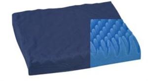 "Picture of Convoluted Polyfoam Wheelchair Cushion aka Eggcrate Cushion, Seat Cushion (16"" x 18"" x 3"")(Navy Cover)"
