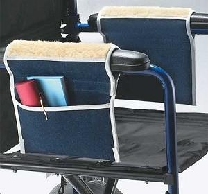 Picture of Wheelchair Storage Pouch with Fleece Armrest, wheelchair accessories