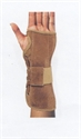 Picture of Suede Wrist Brace (Left/Large) aka Left Wrist Support, Carpal Tunnel Syndrome, Wrist Immobilizer, Clearance