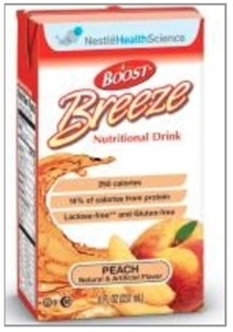 Picture of Boost Breeze Lactose Free, Fat Free Nutritional Drink (8 oz Drink Box)(Peach)(case of 27)