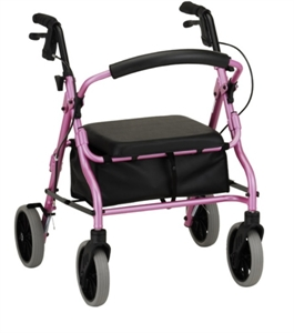 "Picture of Zoom Rolling Walker by Nova, User Height 4'10"" - 5'4"", Weight Cap. 300 lbs., Seat Height 18"" aka The Zoom 18 Walker, Rollator"
