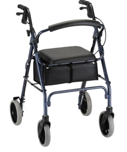 "Picture of Zoom Rolling Walker by Nova, User Height 5'5""-6'2"", Weight Cap. 300 lbs., Seat Height 24"" aka The Zoom 24 Walker, Rollator"